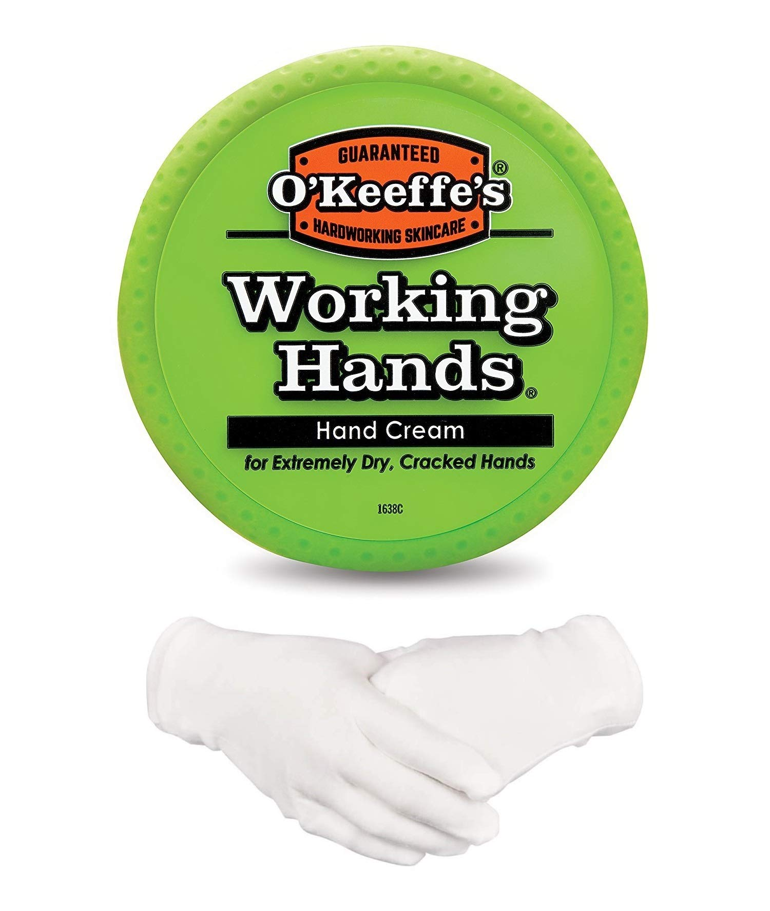 O'Keeffe's Working Hands Hand Cream 96 g/3.4 oz With Cotton Gloves by O'Keffe's