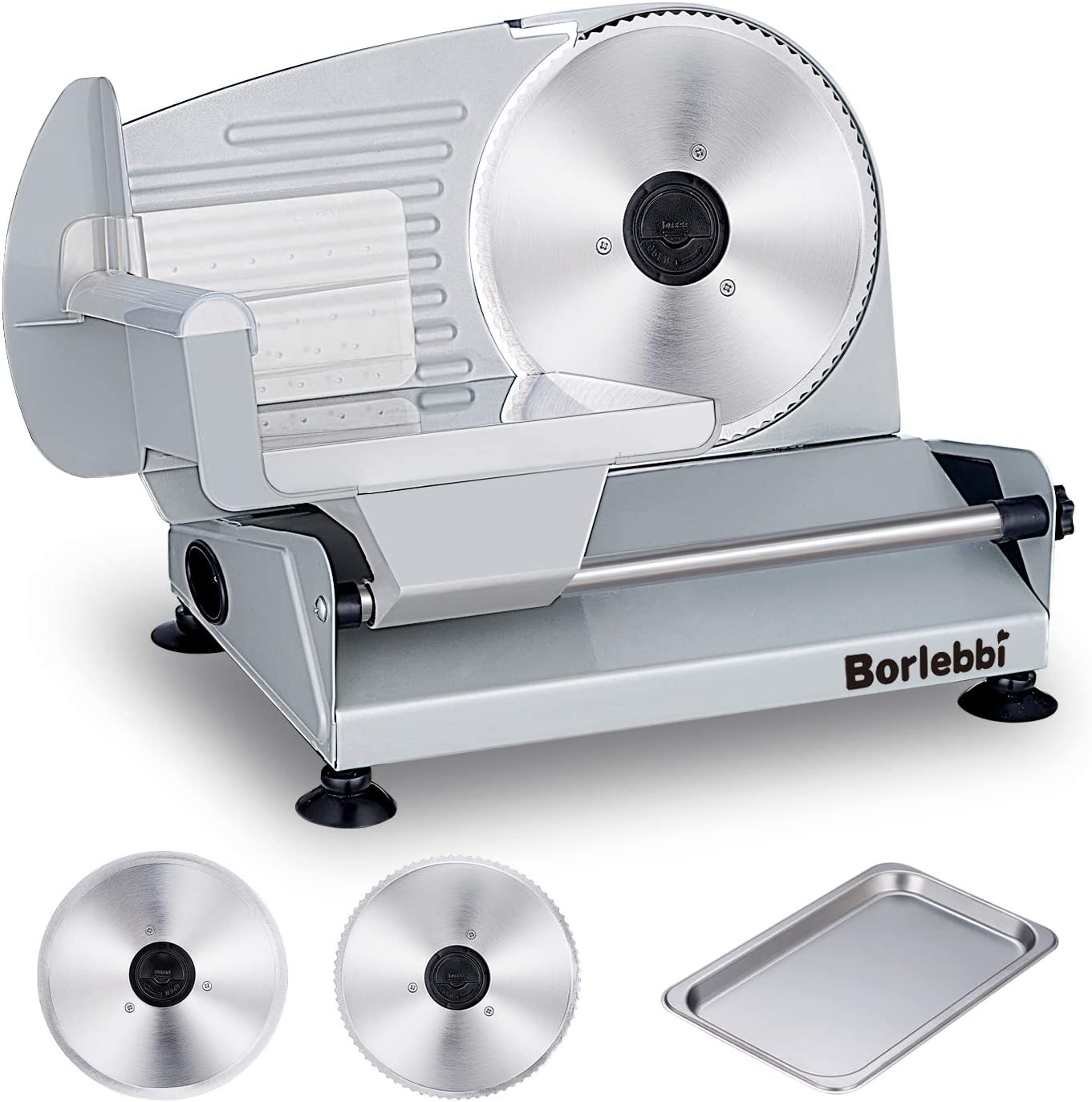 Meat Slicer, 200W Electric Food Slicer with Two Removable 7.5