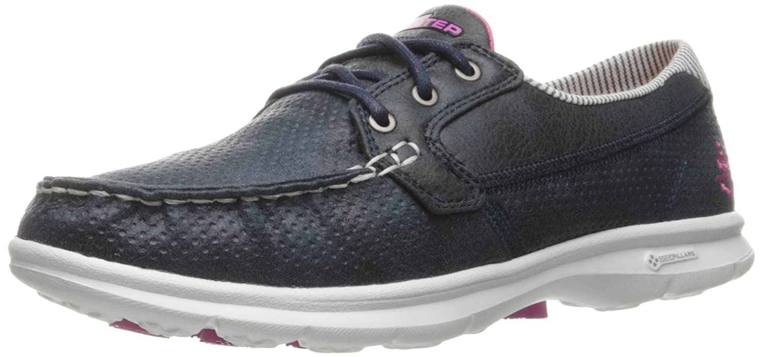 Skechers Performance Women's Go Step-Seashore Boating Shoe B01IIBN932 6.5 B(M) US|Navy/White