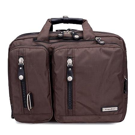 FreeBiz - Bolsa para ordenador portátil de 15 pulgadas multifunción - maletín para laptop con asa de transporte y correa para el hombro, apta para portátil ...