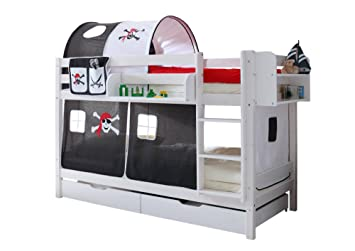 Ticaa Etagenbett : Ticaa etagenbett marcel kiefer weiß motiv amazon küche haushalt
