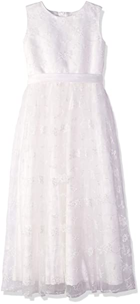 Amazon a line wedding pageant lace flower girl dress with belt carat a line wedding pageant lace flower girl dress with belt 2 12 year old mightylinksfo