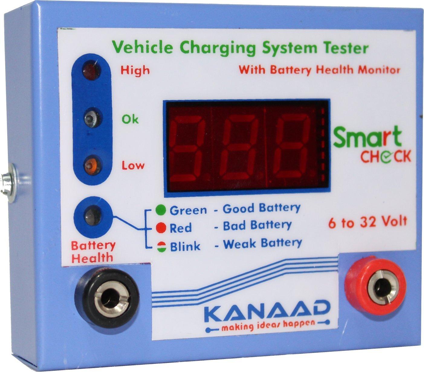 kanaad digital voltmeter cum rectifier and regulator tester of vehicle:  amazon in: industrial & scientific