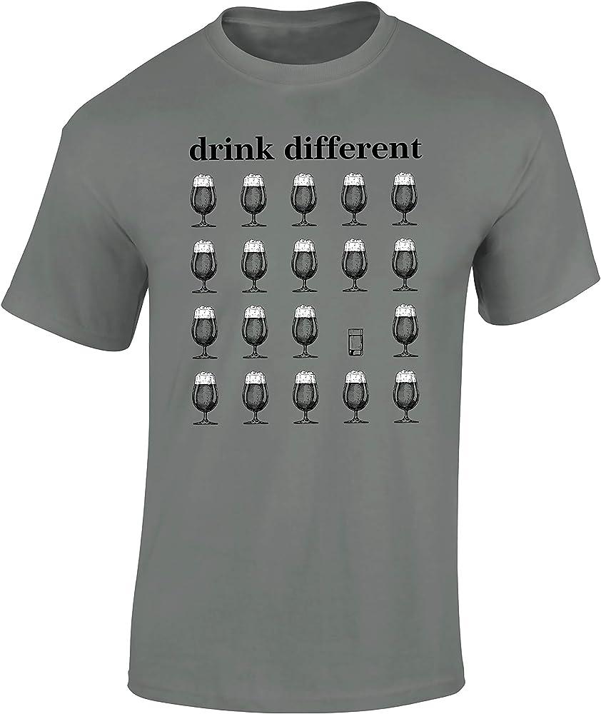 Camiseta: Drink Different/Cerveza/Beer/Birra/Oktoberfest/Cervecería/Cerveza Artesanal/Craft-Beer/Fun-Shirt - Humor (M): Amazon.es: Ropa y accesorios