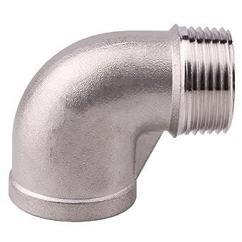 "Hembra de 1-1//4/"" X 1-1//4/"" macho tubo montaje roscado codo de calle 304 De Acero Inoxidable"
