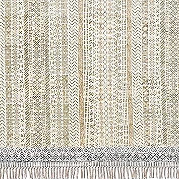 milanari Miro - Alfombra de algodón, Color Beige y Gris, algodón, Gris, 60 x 90 cm: Amazon.es: Juguetes y juegos