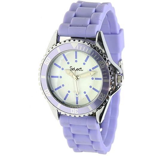 Select Tt-45-492 Reloj Analogico para Chica Caja De Metal Esfera Color Blanco: Amazon.es: Relojes
