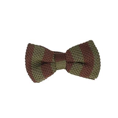 Marcell Sanders corbata de moño Límite de punto de algodón verde ...
