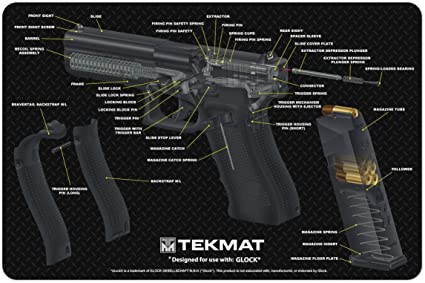 Amazon Com Tekmat Glock Cut Away Cleaning Mat 11 X 17 Thick Durable Waterproof Handgun Cleaning Mat With Parts Diagram And Instructions Armorers Bench Mat Black Sports Outdoors