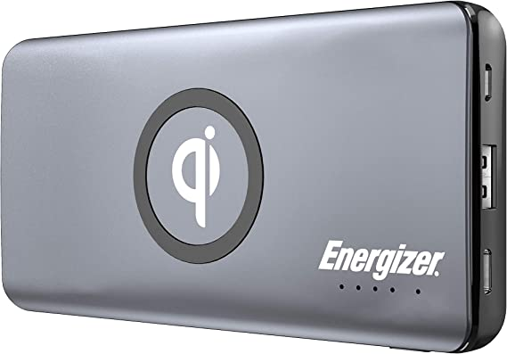 10,000 Series Qi Wireless-Charging Power Bank with 2 USB Ports: Amazon.es: Electrónica