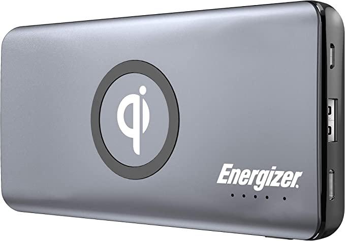 Energizer Ultimate 10000 Series, 10W Qi Fast Wireless Charging, High Capacity 10000mAh Lithium Polymer, Fast Charging Power Bank wPower Delivery 3.0