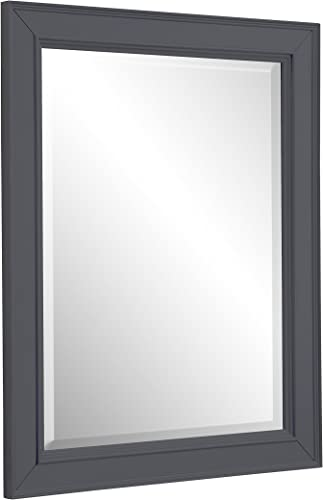 Napa 28-inch Bathroom Wall Mirror Charcoal Gray