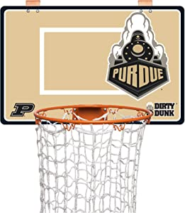 The Dunk Collection The Dirty Dunk Basketball Hoop Laundry Hamper, Over The Door,- Purdue Boilermakers, NCAA (00054)