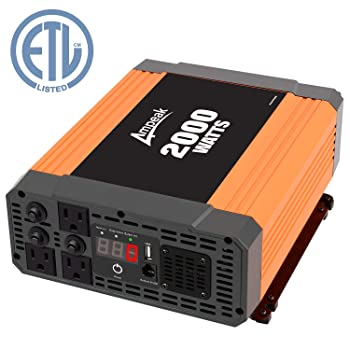 Ampeak 2000W Power Inverter 3 AC Outlets
