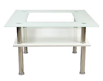 Ts Ideen Design Glastisch Wohnzimmer 6 Mm Glas Tisch Couchtisch  Beistelltisch Kaffeetisch 70 X 70