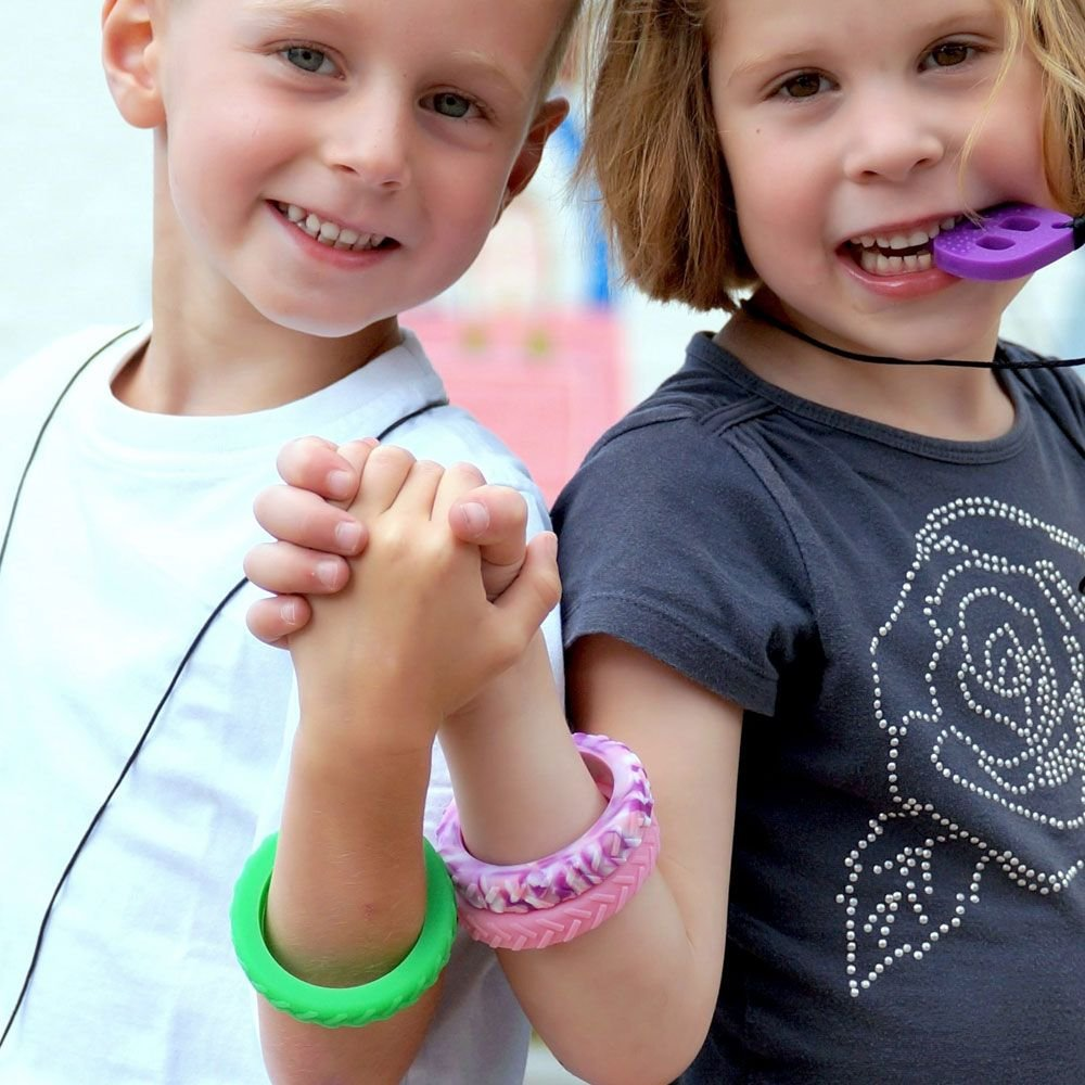 strukturiertes Chewigem starkes zur Verringerung von Angst /& verbesserten Fokus. diskretes Kinder-Armband /& sensorische Hilfe