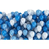 Archana Nhr Decoration Large Balloon Pack Of 100 Pieces (Blue & White)