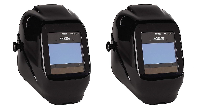 Jackson Safety 46131 Insight Variable Auto Darkening Welding Helmet, HaloX,Black (Pack of 2)