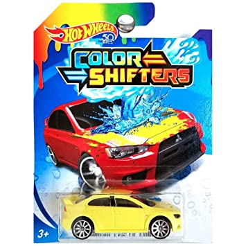 Hot Wheels 2018 Color Shifters Mitsubishi Lancer Evolution Yellow To Red