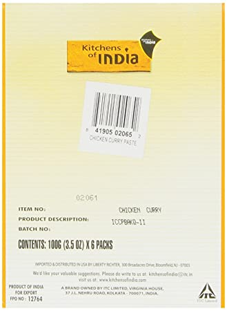 Amazon com   Kitchens Of India Curry Paste For Chicken Curry  3 5 Ounce  Boxes  Pack of 6   packaging may vary    Curry Sauces   Grocery   Gourmet  FoodAmazon com   Kitchens Of India Curry Paste For Chicken Curry  3 5  . Amazon Kitchens Of India Butter Chicken. Home Design Ideas