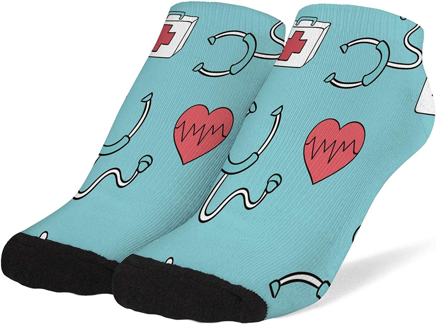 Rkouquhuaqi Womens Athletic Low Cut Ankle Socks No Show Performance Cushioned Sock