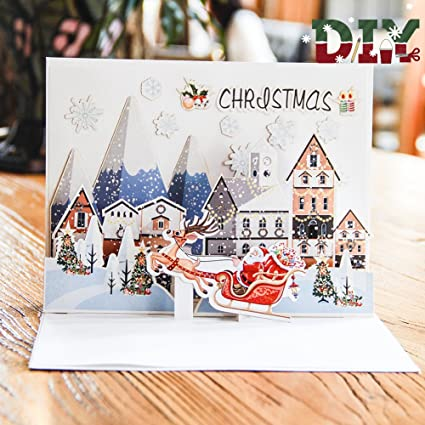 Tarjetas 3D Navidad Paper Spiritz Pop up Navidad año Nuevo ...