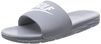 buy popular 93151 d1e6b Nike Benassi Solarsoft 2 Men s Golf Slides (Wolf Grey, 7.0 D(M)
