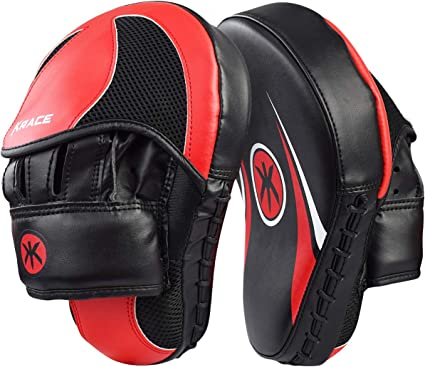 Kick Shield Boxing Strike Pad MMA Focus Mitts Muay Thai Punch Training Sparring
