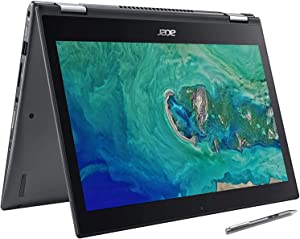 "Acer Spin 5 2-in-1 13.3"" FHD Touchscreen Laptop, Intel Quad-Core i7-8565U, 16GB DDR4 RAM, 512GB SSD, Windows 10 Pro, Fingerprint Reader, Backlit KB, Stylus, Webcam + CUE Accessories"