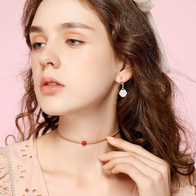 Gobesty Boucles doreilles clips pour filles 7 paires de boucles doreilles sans conception perc/ée Habillent des accessoires de bijoux de princesse pour les filles