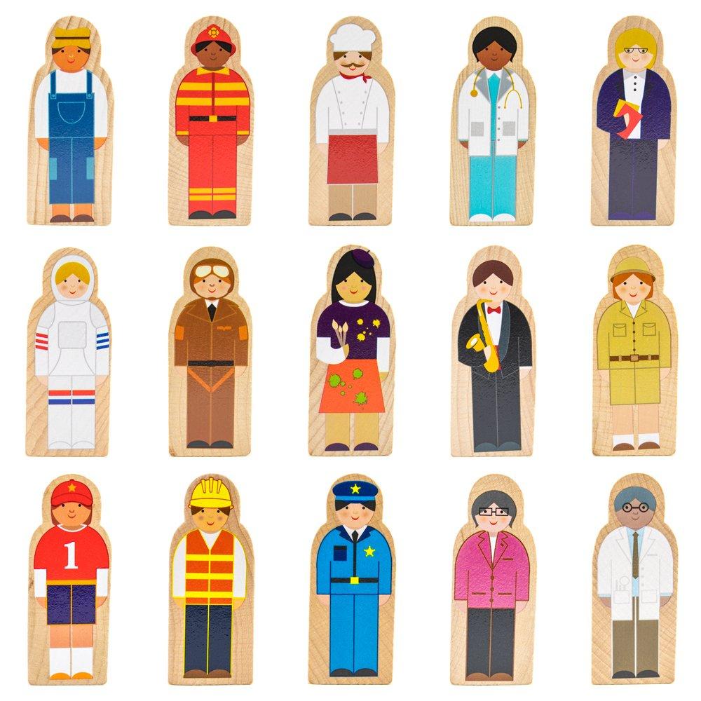 Little Professionals Wooden Character Set