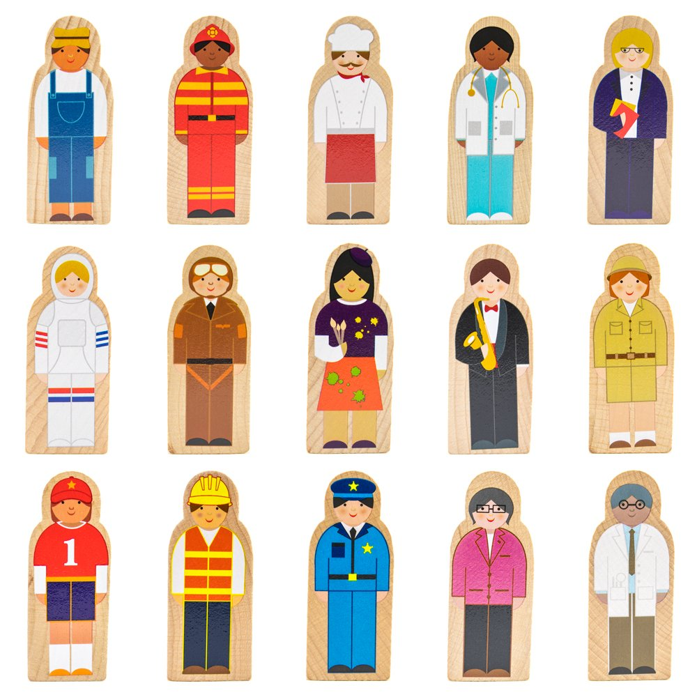 Imagination Generation Little Professionals Wooden Character Set (15 pieces) by Imagination Generation