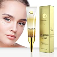 HOPEMATE Anti Age Eye Cream, Reduce Dark Circles, Puffiness Under Eye Bags,Effective Anti-Wrinkles Treatment, Anti-Aging Eye Gel with Hyaluronic Acid Natural and Organic Anti Aging Eye Balm To Reduce