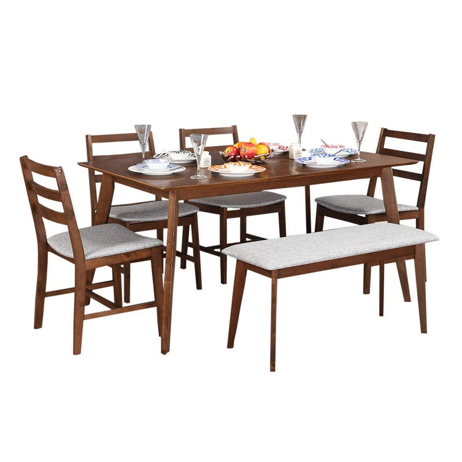 HomeTown Allen 6 Seater Dining Set with Bench