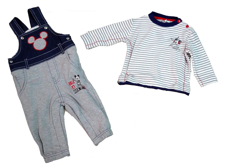 salopotte neonato con t-shirt manica lunga caldo cotone MICKEY topolino disney art. WD101253 (12 mesi, grigio)