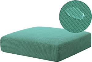NC HOME High Stretch Water Repellent Sofa Seat Cushion Covers Couch Slipcover Stretch Furniture Protector, RV Seat Cover Machine Washable (Chair Cushion, Matcha Green)