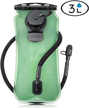 Gofriend/® Bolsa de agua con bid/ón de hidrataci/ón de 3/litros 3L aprobado por la FDA para exteriores con sistema de dep/ósito de agua en mochila ideal para ciclismo senderismo //2/litros 2L 70 oz corre sin BPA 100 oz