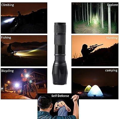 Zoomable XML L2 LED Lampe De Poche Lolittas +18650 batterie+ Support + Chargeur + Etui