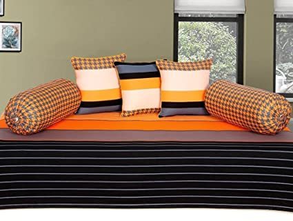 Ab Home Decor 100% Cotton Diwan Set (6 Pcs)
