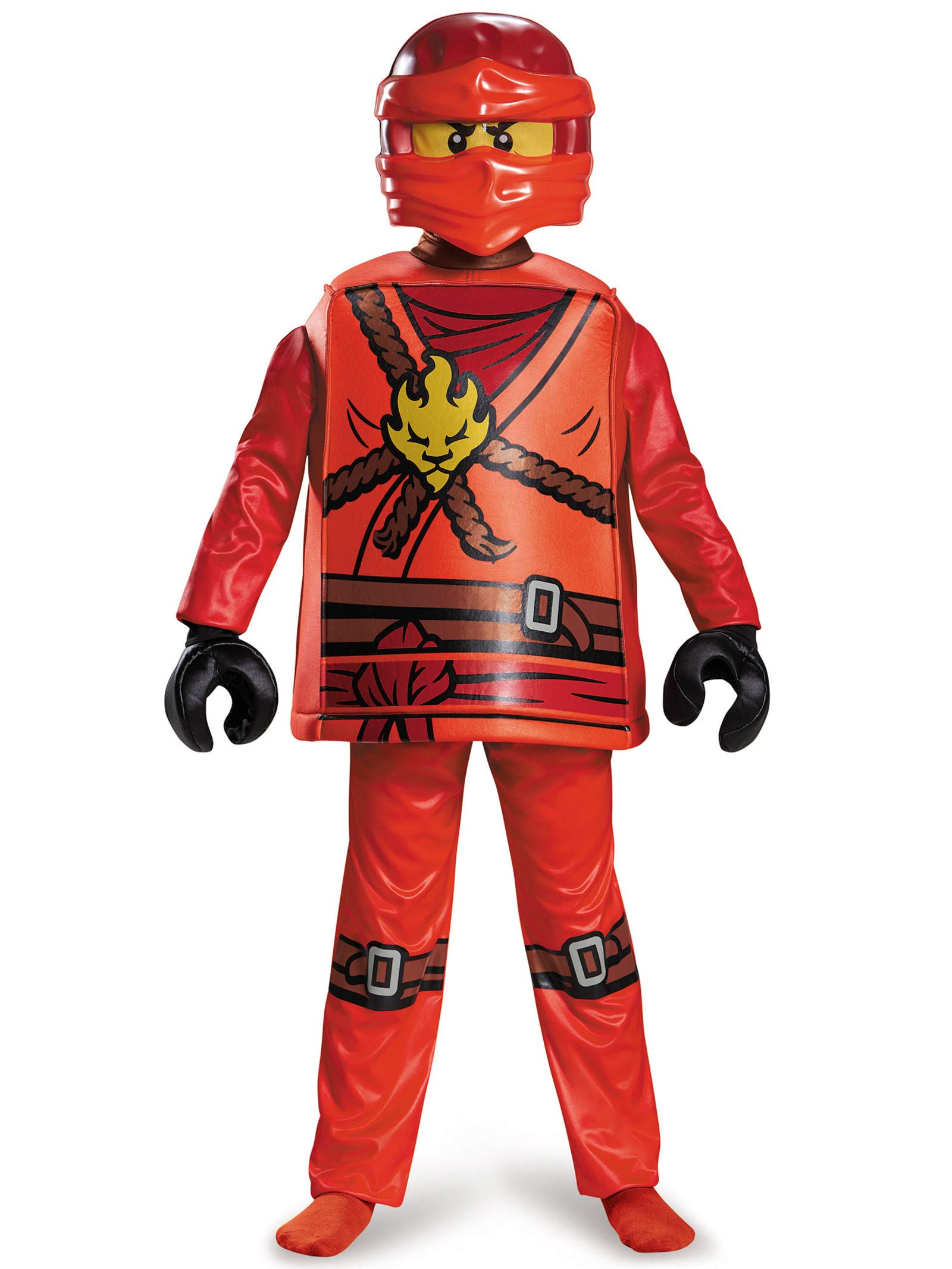 Disguise Kai Deluxe Ninjago Lego Costume, Medium/7-8 by Disguise