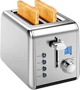 HoLife Bagel Multiple Functions 2 Slice Stainless Steel Toaster