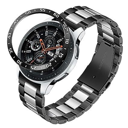TRUMiRR Galaxy Watch 46mm / Gear S3 Bandas, 22mm Sólido de Acero Inoxidable Metal Band Correa de liberación rápida para Samsung Galaxy Watch 46mm, ...