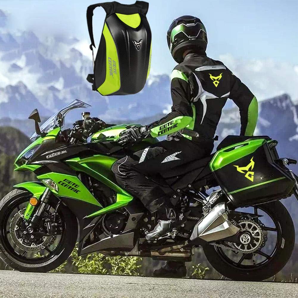 Pictury-Ying Motorrad wasserdichte Hartschale Kawasaki Schildkr/öte Tasche Kohlefaser Motorrad Rucksack Reittasche MC Rucksack
