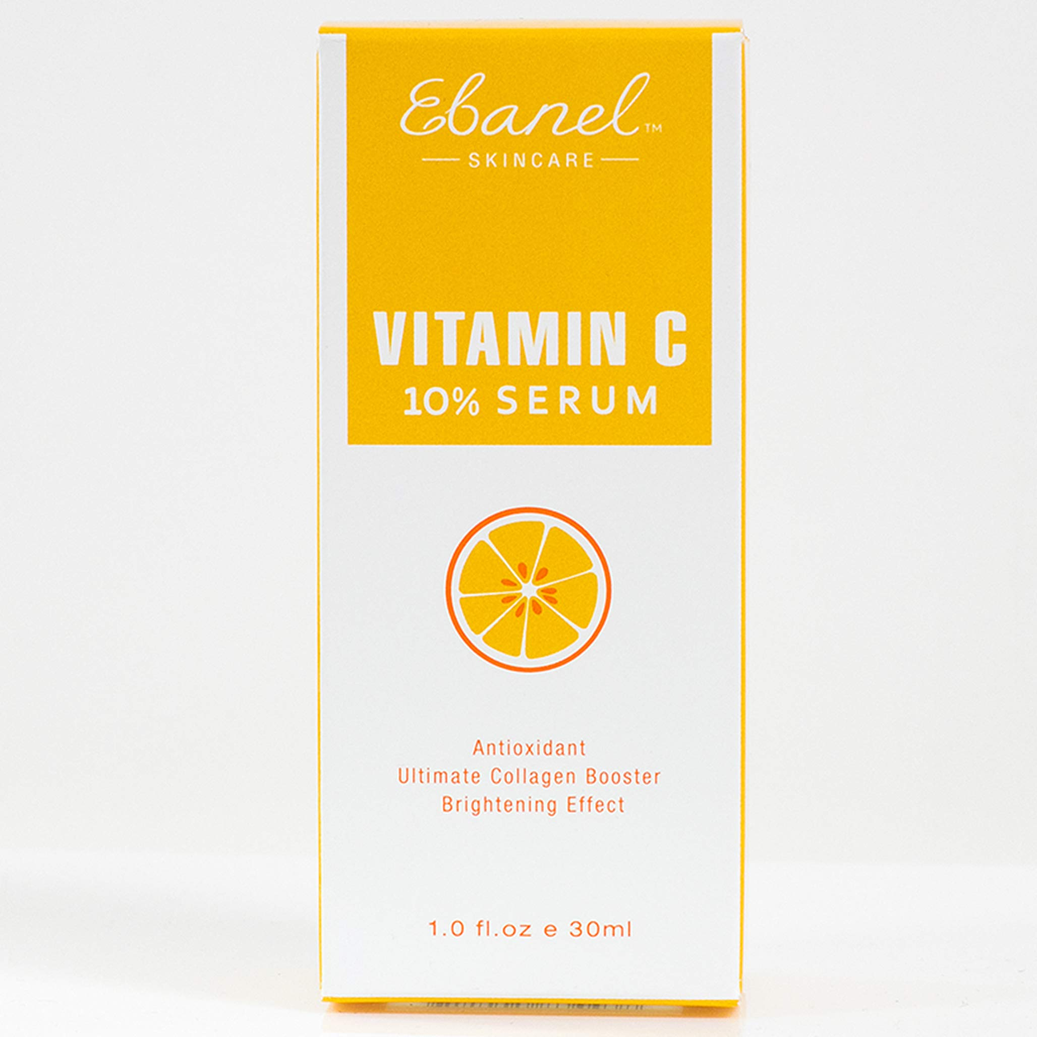 Ebanel Vitamin C 10% Serum (1 Oz / 30ml) Antioxidant, Ultimate Collagen Booster, Brightening Effect