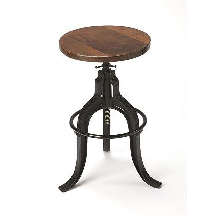 Tremendous Amazon Com Butler 2049025 Gladney Iron Revolving Bar Stool Machost Co Dining Chair Design Ideas Machostcouk