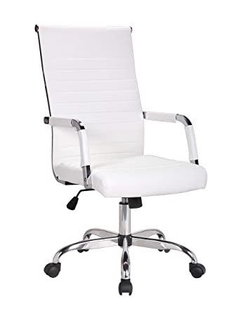 Terrific Btexpert Tilt Seat Designer Executive Manager Conference Ergonomic High Back Pu Leather Swivel White Andrewgaddart Wooden Chair Designs For Living Room Andrewgaddartcom