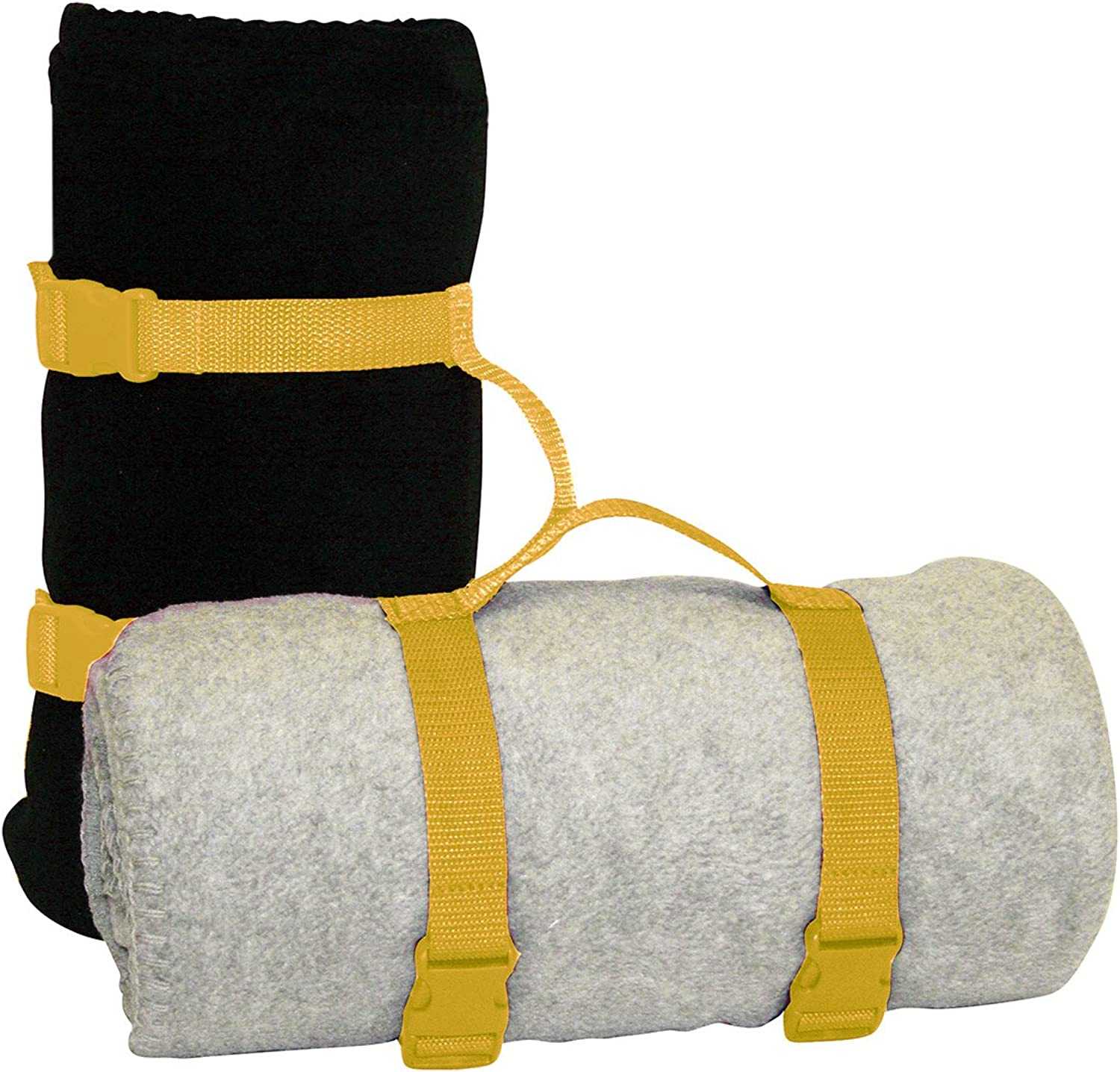 2Pcs Heavy Duty Throw Travel Rug Carrier Blanket Carry Strap Handle Holder