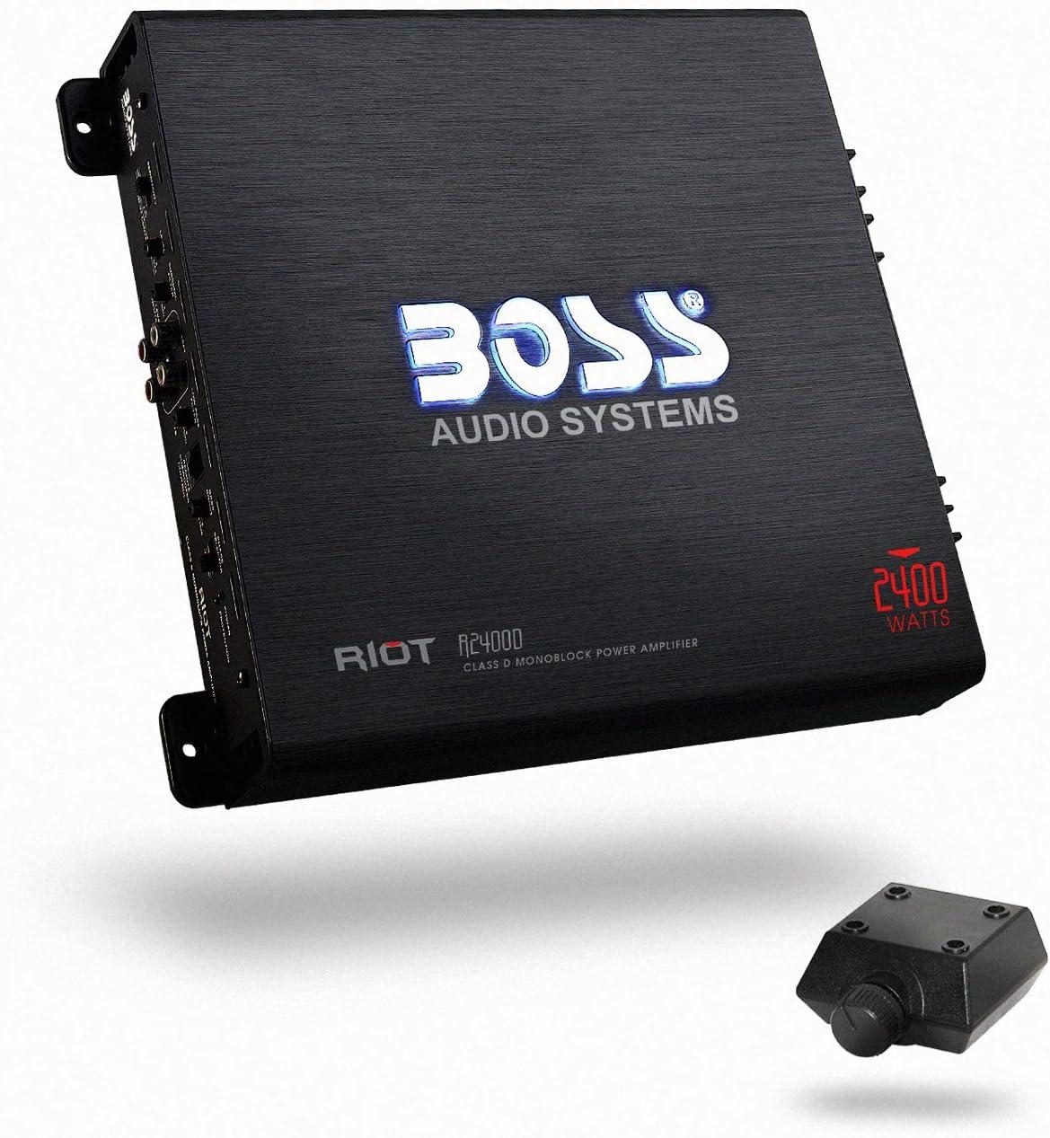 BOSS Audio Systems R2400D Class D Car Amplifier - 2400 Watt Amp, 1 Ohm Stable
