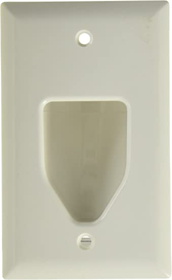 2 Lot of DATACOMM ELECTRONICS 45-0001-WH 1-Gang Recessed Low Voltage Plate,White