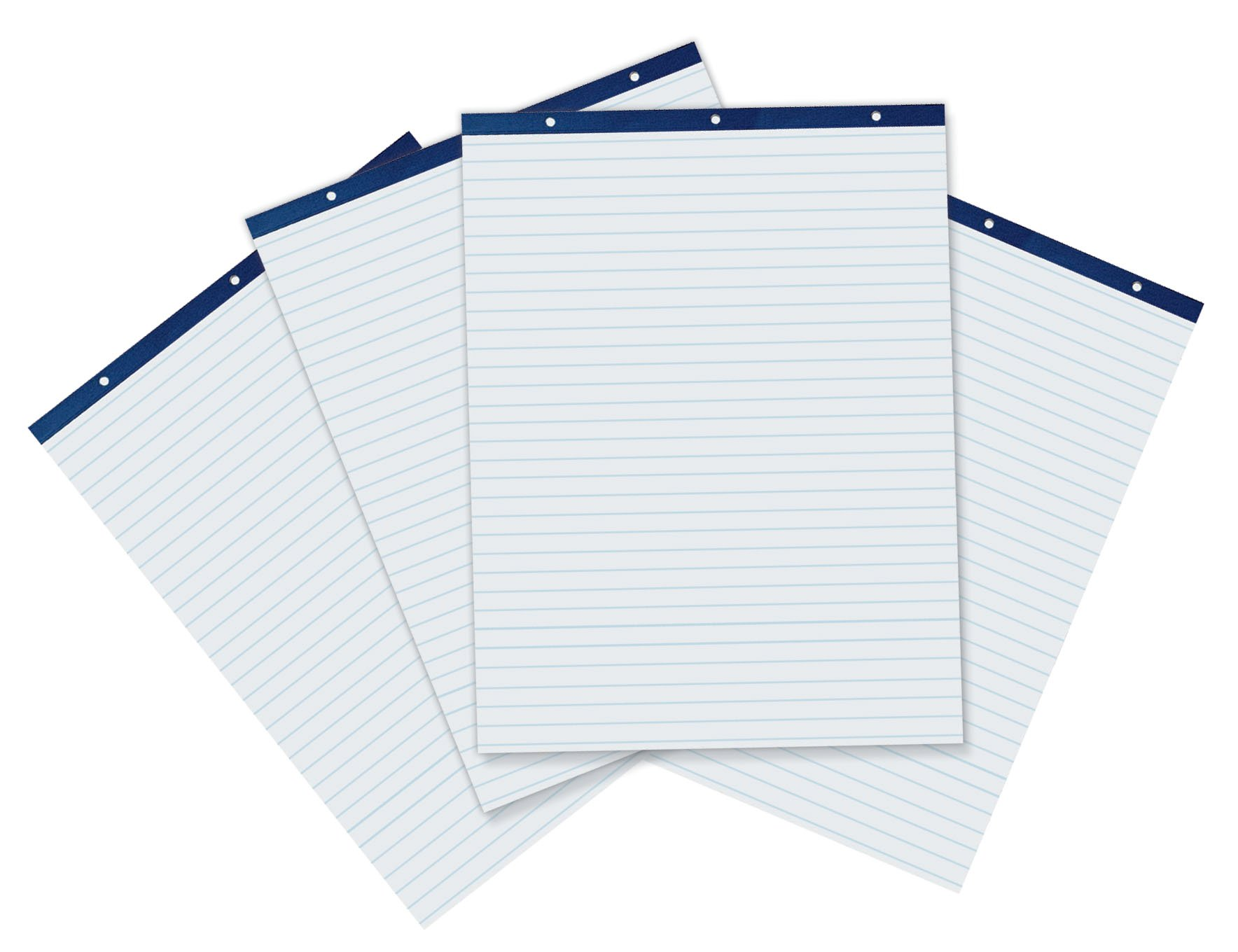 Pacon Easel Pad, 27''X34'', 1'' Ruled, 50 Sheets, 4 Pads Per Case